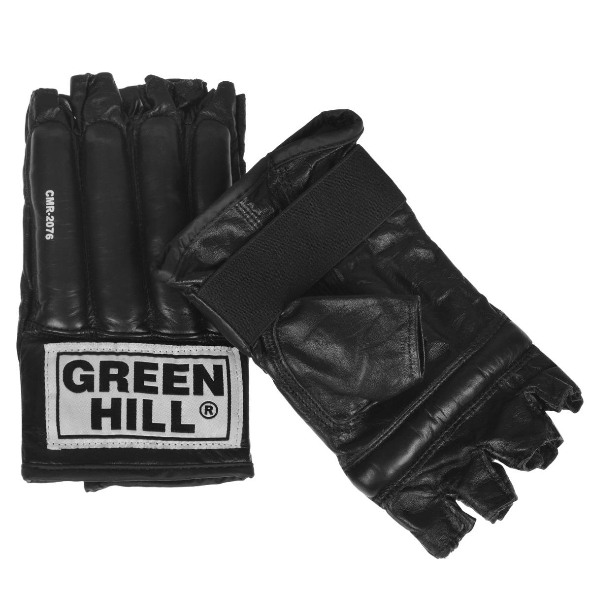 Шингарты для единоборств Green Hill Royal, цвет: черный. Размер S7778RBSMUШингарты Green Hill Royal предназначены для новичков и любителей, для тренировок в домашних условиях, а так же могут использоваться для боевого самбо или боев без правил. Выполнены из высококачественной натуральной кожи. Застежка в виде резинки надежно фиксирует шингарты на руке.