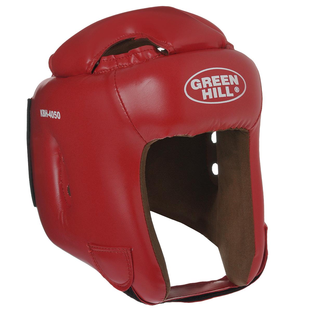 "Шлем боксерский Green Hill ""Brave"", цвет красный. Размер M (54-56 см)"