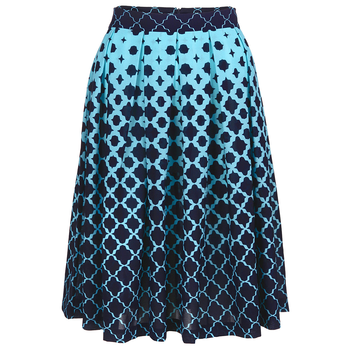 Юбка Lautus, цвет: темно-синий, голубой. ю0156. Размер 52ю0156Очаровательная юбка от Lautus добавит женственные нотки в ваш модный образ. Модель выполнена из полиэстера с небольшим добавлением эластана. Юбка застегивается на потайную застежку-молнию, расположенную в заднем шве. Изящная модель с посадкой на талии подчеркнет красоту и стройность ваших ног, сделает ваш образ более хрупким. Изделие оформлено модным контрастным принтом. Стильная юбка - основа гардероба настоящей леди. Она подчеркнет ваше отменное чувство стиля и безупречный вкус!