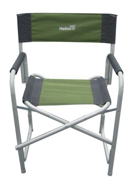 Кресло складное Helios, цвет: серый, зеленый, 47 см х 35   85