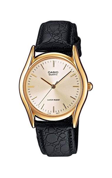 Часы наручные мужские Casio, цвет: золотистый, черный. MTP-1154PQ-7A