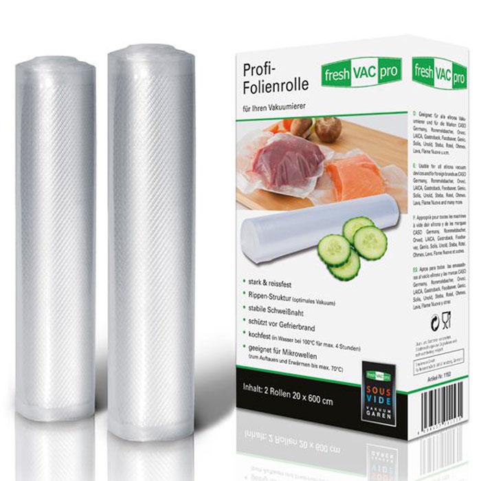 Ellrona FreshVACpro 20х600 пленка в рулоне для вакуумного упаковщика, 2 шт. ellrona freshvacpro 30 40