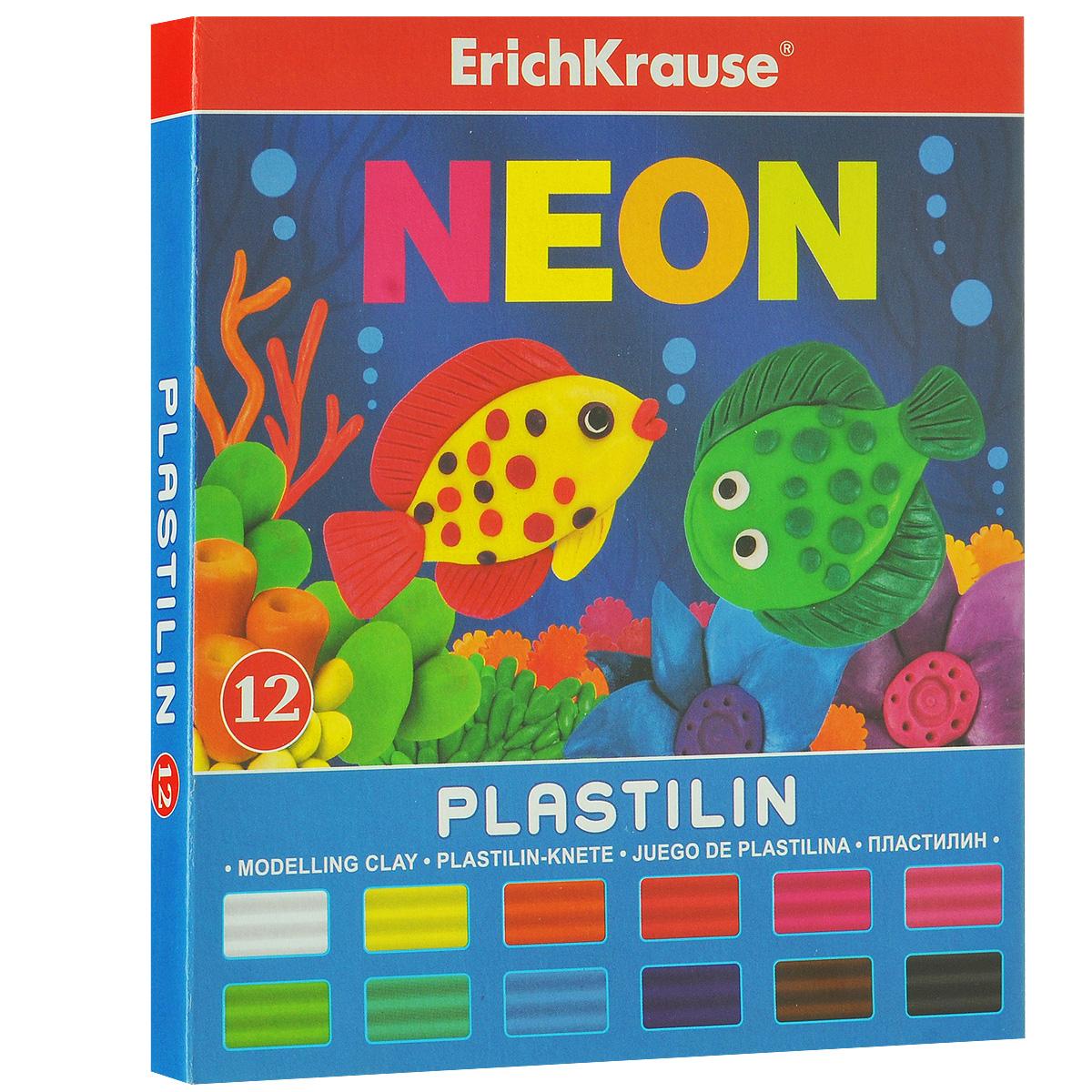 Пластилин Erich Krause Neon, 12 цветов37279Пластилин Neon- это отличная возможность познакомить ребенка с еще одним из видов изобразительного творчества, в котором создаются объемные образы и целые композиции. В набор входит пластилин, 12 цветов (белый, желтый, оранжевый, морковный, красный, розовый, зеленый, салатовый, голубой, фиолетовый, коричневый, черный).Цвета пластилина легко смешиваются между собой, и таким образом можно получить новые оттенки. Он имеет яркие, красочные цвета.Техника лепки богата и разнообразна, но при этом доступна даже маленьким детям. Занятие лепкой не только увлекательно, но и полезно для ребенка. Оно способствует развитию творческого и пространственного мышления, восприятия формы, фактуры, цвета и веса, развивает воображение и мелкую моторику.