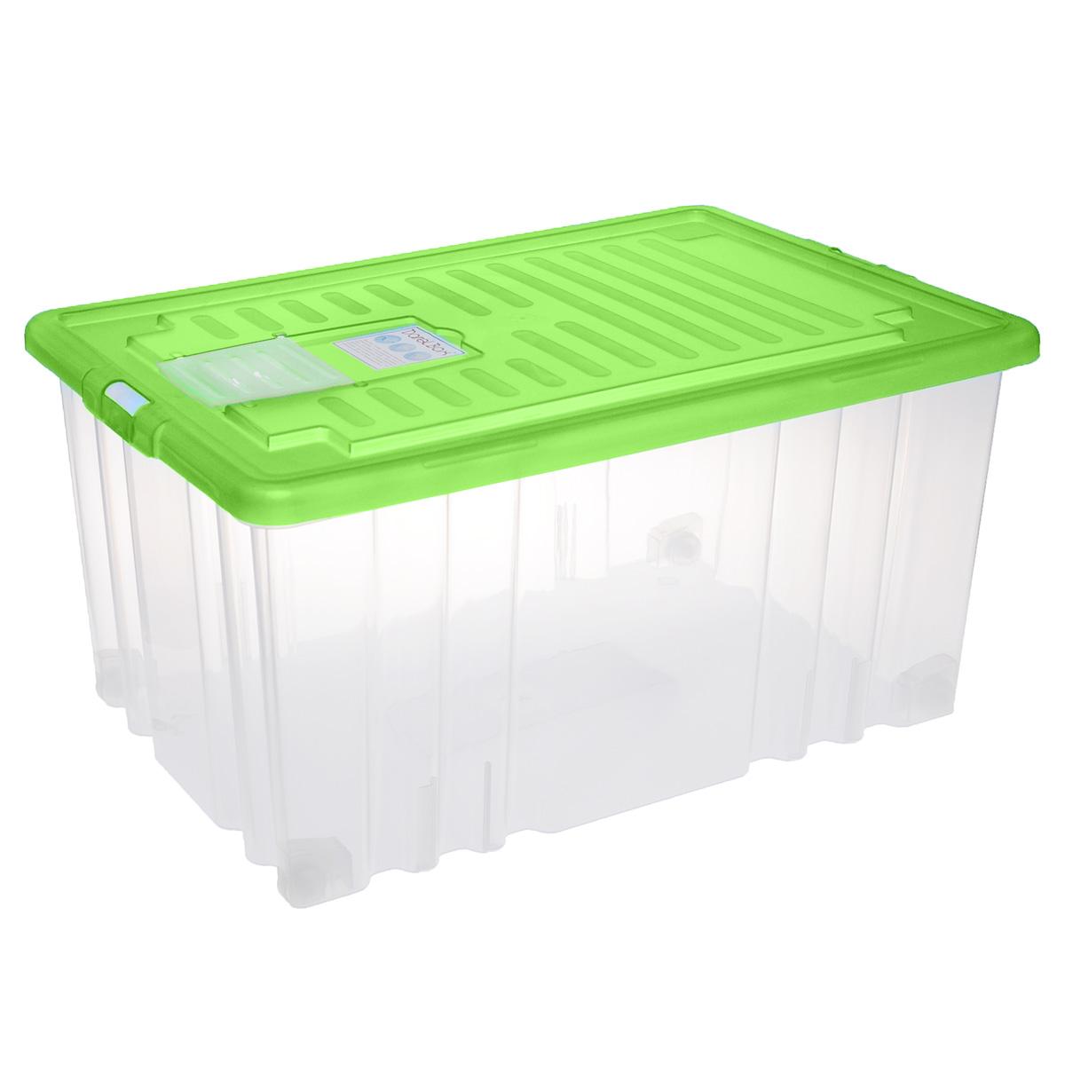 """Ящик """"Darel Box"""", изготовленный из прозрачного пластика, оснащен плотно закрывающейся крышкой и специальным клапаном для антимолиевых и дезодорирующих веществ. Изделие предназначено для хранения различных бытовых вещей. Идеально подойдет для хранения белья, продуктов, игрушек. Будет незаменим на даче, в гараже или кладовой. Выдерживает температурные перепады от -25°С до +95°С. Изделие имеет четыре маленьких колесика, обеспечивающих удобство перемещения ящика. Колеса бокса могут принимать два положения: утопленное - для хранения, и рабочее - для перемещения. Размер ящика: 60 см х 40 см х 31 см."""