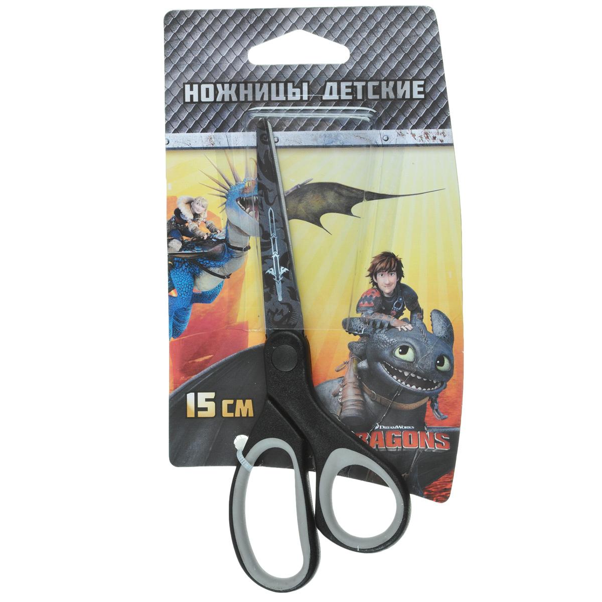 Ножницы детские Action Dragons, цвет: черныйDR-ASC265/C37329_черныйДетские ножницы Action Dragons с безопасными закругленными лезвиями изготовлены из высококачественной нержавеющей стали. Лезвия с наружной стороны оформлены декоративным рисунком. Облегченные ручки ножниц адаптированы для детской руки.Вашему ребенку будет настоящим удовольствием делать с ножницами Action Dragons различные аппликации из бумаги или других материалов.