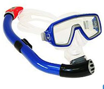 Набор для подводного плавания Technisub (маска Ventura Midi + трубка Heliox), цвет: синий очки маски и трубки для плавания intex маска авиатор для плавания 55911