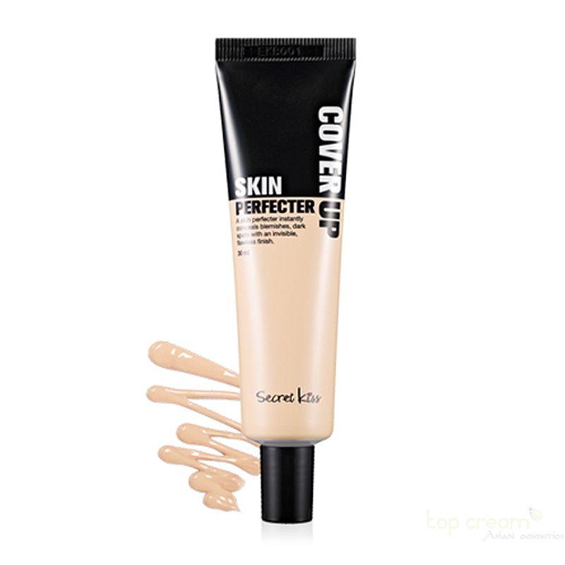 Secret Key Ухаживающий консилер Cover Up Skin Perfecter Light 30 мл94739Крем является основой для дневного и вечернего макияжа, который маскирует недостатки кожи и устраняет причину их появления. Создавая тонкий слой, препарат оставляет возможность коже дышать весь день, и вместо парового эффекта обычного тонального крема, создает впечатления крема и становится незаменимой составляющей женской косметички.