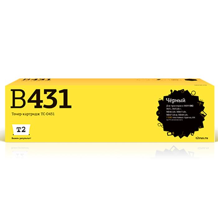 T2 TC-O431 тонер-картридж для OKI B431/MB461/MB471/MB491TC-O431