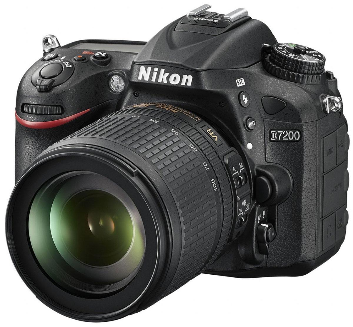 Nikon D7200 Kit 18-105 VR, Black цифровая зеркальная фотокамера - Зеркальные фотоаппараты