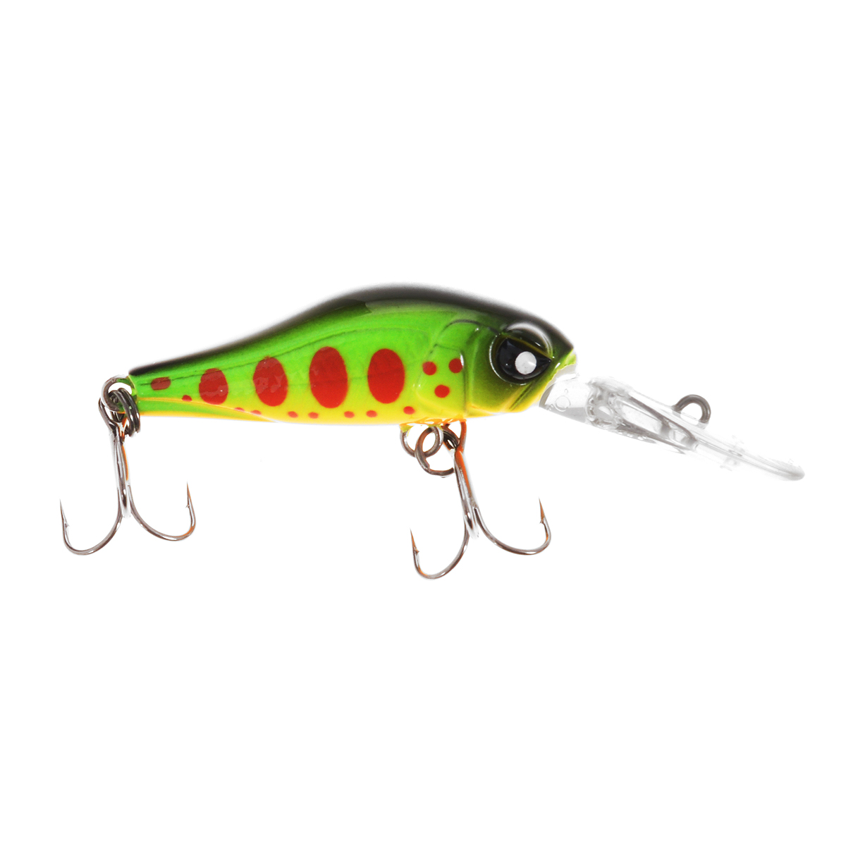 Воблер плавающий Lucky John Basara, цвет: зеленый, желтый, красный, 3,5 см, 2 г
