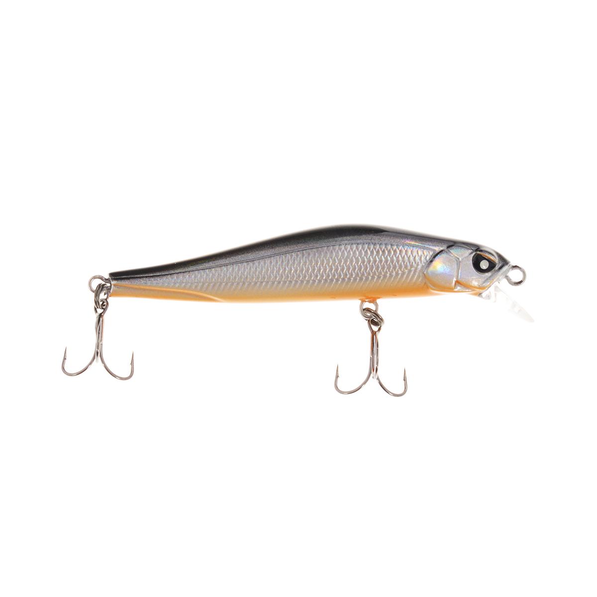 Воблер плавающий Lucky John Basara, цвет: черный, серебристый, оранжевый, 7 см, 5 г