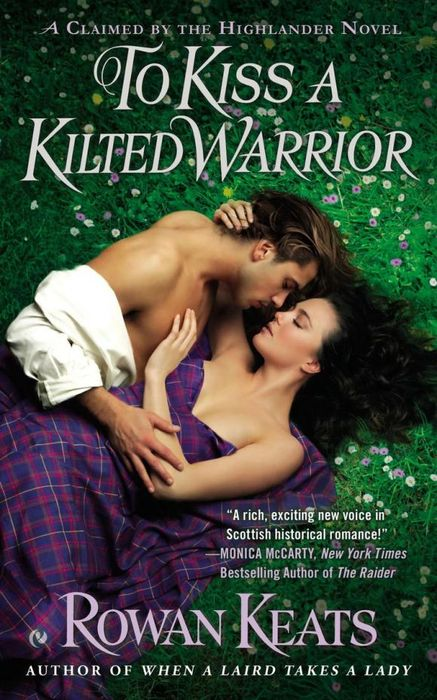 To Kiss a Kilted Warrior split by a kiss