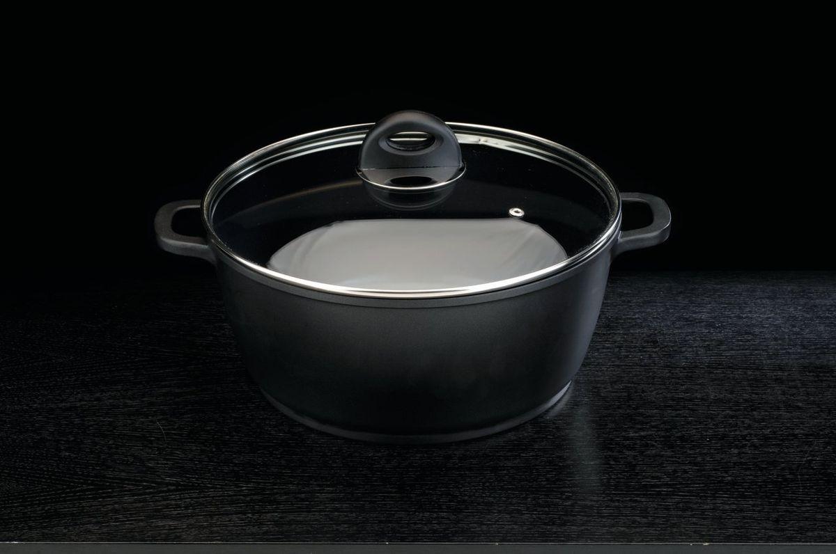 Кастрюля Cook&Co Cast 28см 6,0л , цвет: черный нарезатель для картофеля фри berghoff cook