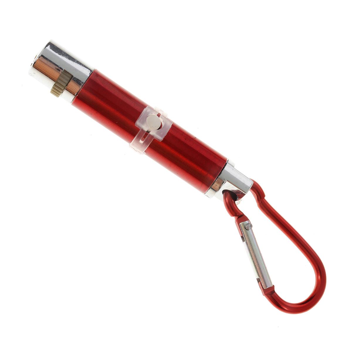 Игрушка для кошек V.I.Pet Лазерная указка, с фонариком, цвет: красный1014Игрушка V.I.Pet Лазерная указка с карабином, изготовленная из высокопрочного металла и пластика, предназначена для игры с вашей любимой кошкой. Игрушка оснащена 5 фигурными лучами и фонариком.Игрушка работает от 3 батареек типа LR1130, которые входят в комплект. Длина: 8 см. Диаметр: 1,5 см. Уважаемые клиенты! Обращаем ваше внимание на незначительные изменения в дизайне фигурных лучей. Фигурные лучи могут отличаться по форме от лучей, изображенных на фотографии. Поставка осуществляется в зависимости от наличия на складе.