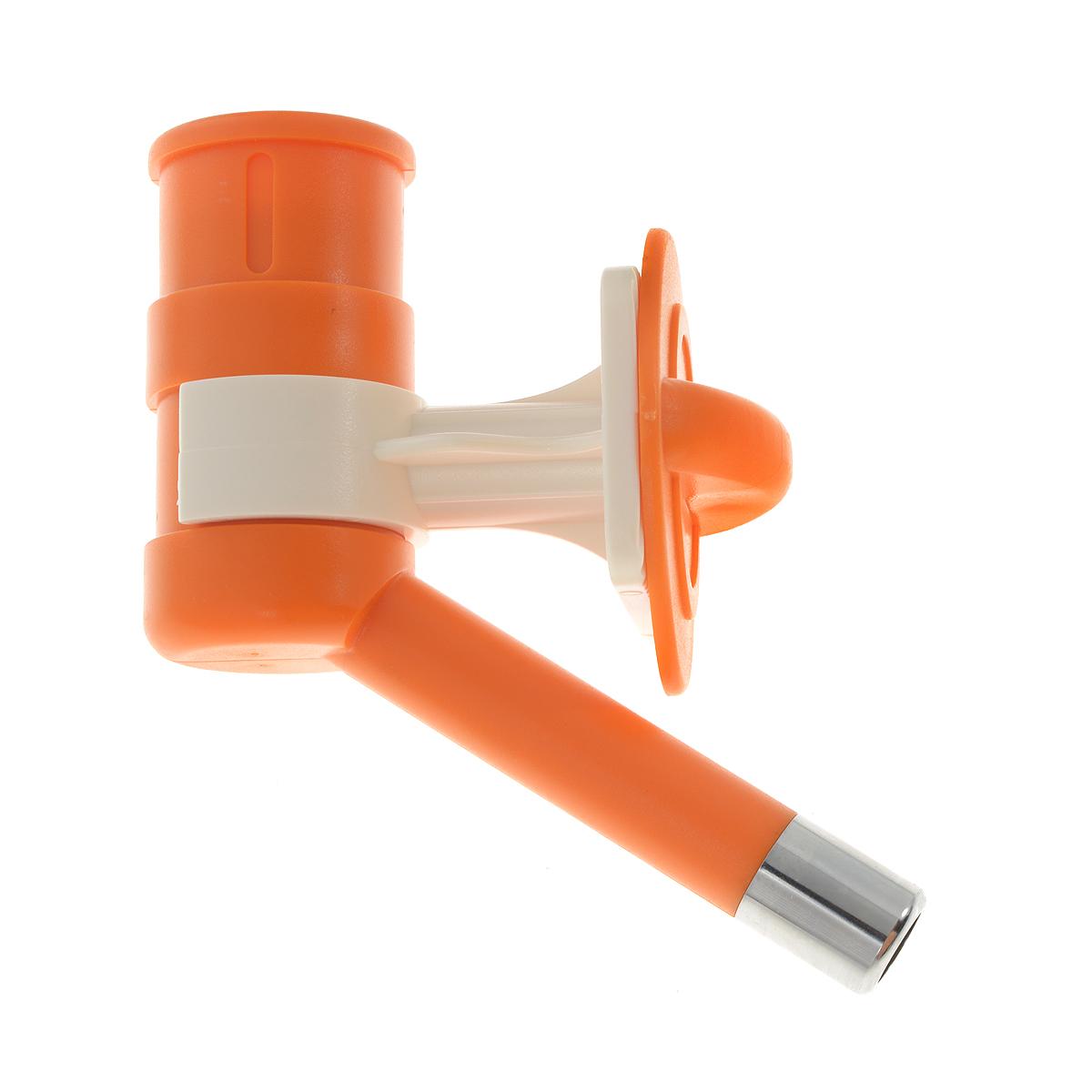 Автопоилка для животных, универсальная, цвет: оранжевый