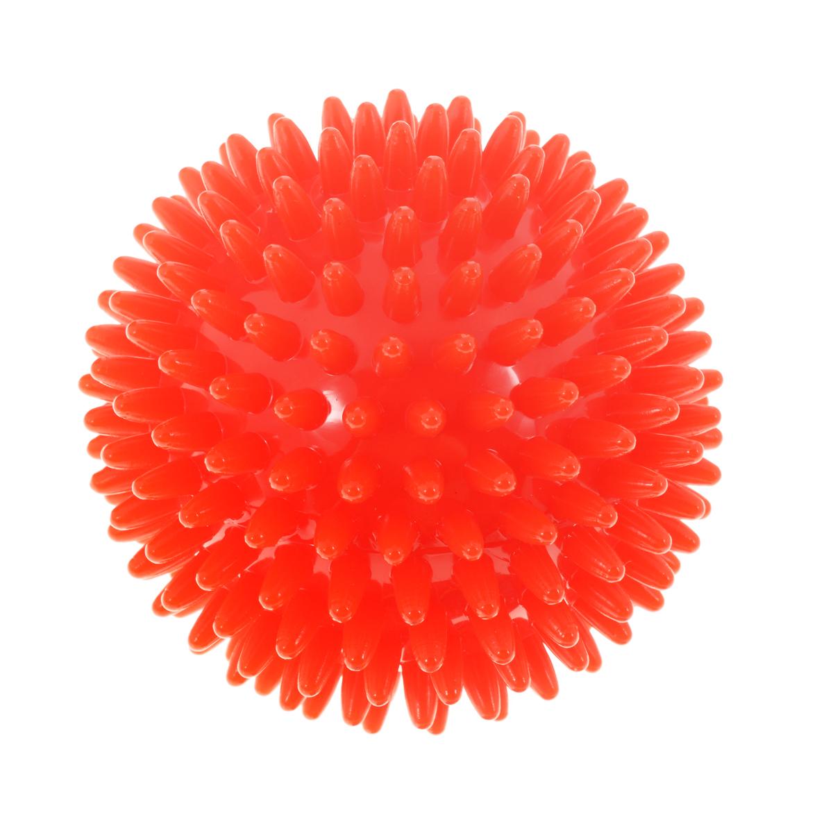 Игрушка для собак V.I.Pet Массажный мяч, цвет: красный, диаметр 9 см