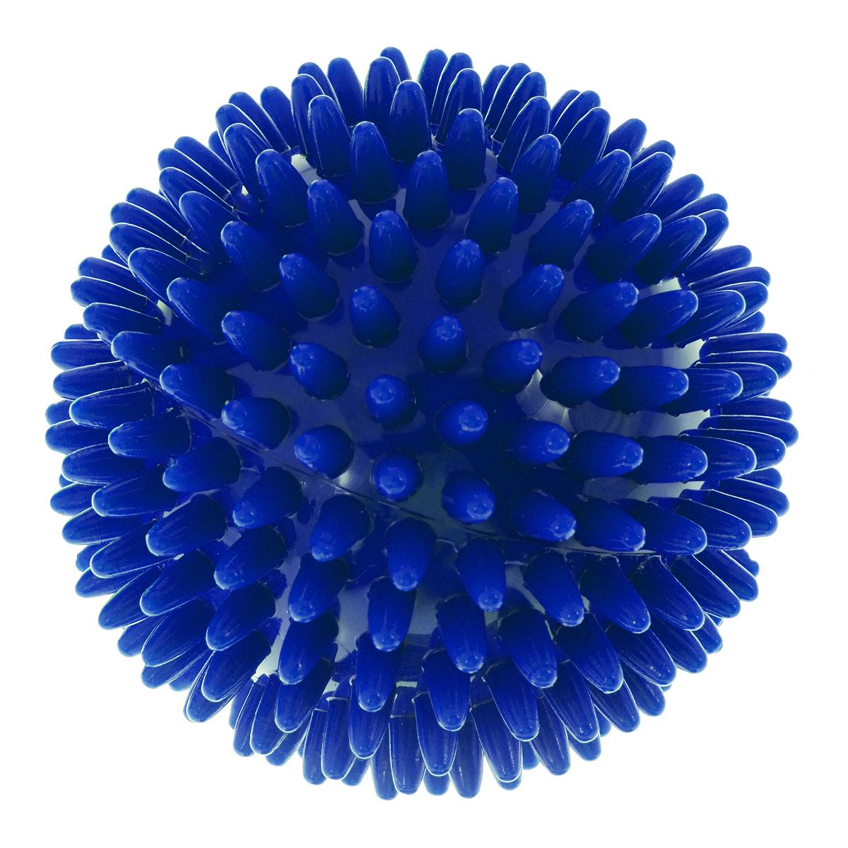 Игрушка для собак V.I.Pet Массажный мяч, цвет: синий, диаметр 8 см