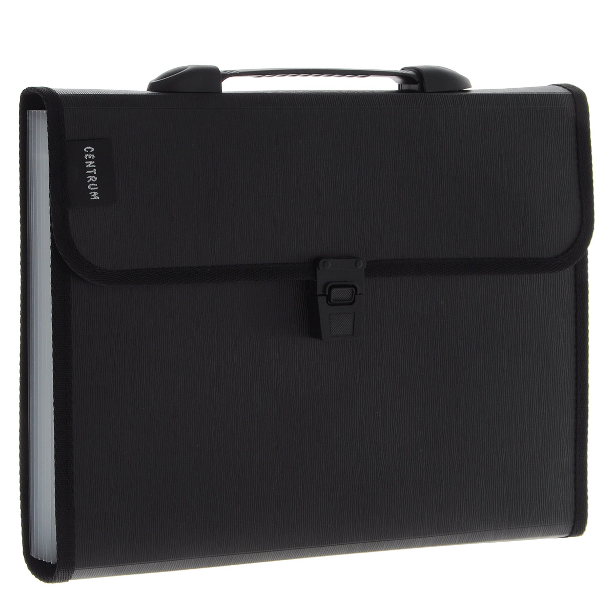 Centrum Папка-портфель с ручкой цвет черный 13 отделений