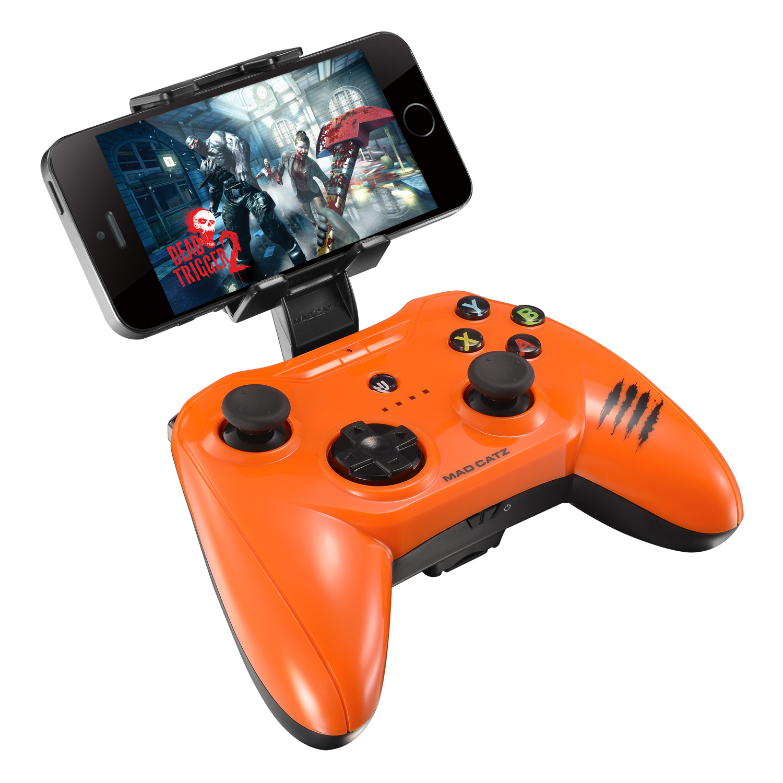 Mad Catz C.T.R.L.i, Gloss Orange беспроводной геймпад для iPhone и iPad мышь mad catz rat 1 black red mcb4373800a3 06 1