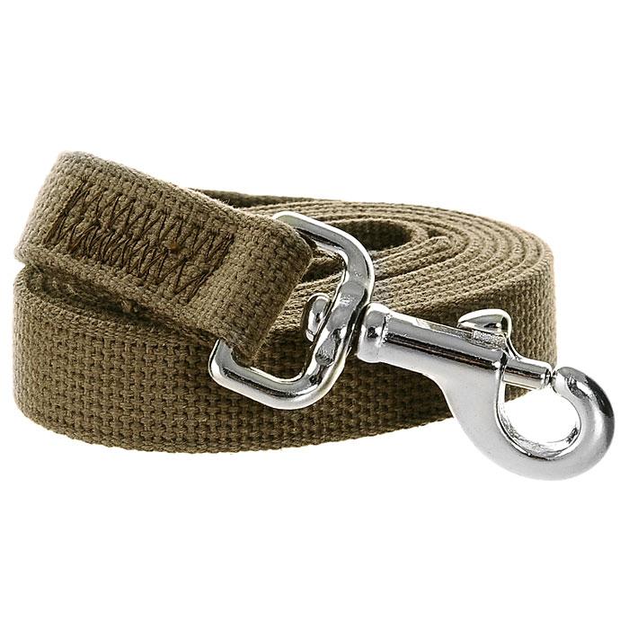 Поводок брезентовый V.I.Pet для собак до 200 кг, 2 м поводок для собак collar soft цвет коричневый диаметр 6 мм длина 1 83 м