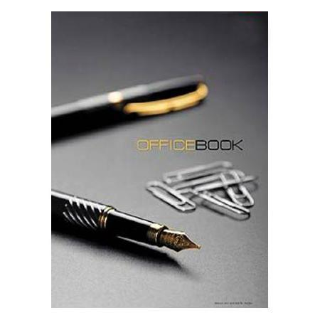 Бизнес блокнот 120л А4ф 5 цв. блок клетка с перф.уголков тв.переплет Office Book120ББ4B1_07971Блокнот с обложкой из картона, защищающей бумагу от деформации.