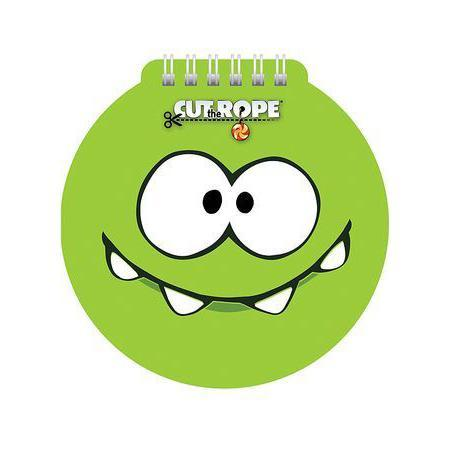 Блокнот 60л А6ф 80 гр/кв.м с фигурной высечкой на гребне CUT THE ROPE60Б6Aгр_12129