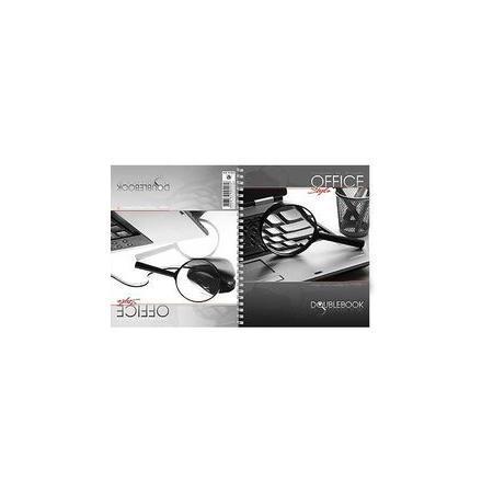 Тетрадь двойная 80л А5ф на гребне Office Style80Тд5B1гр_06669Тетрадь с обложкой из картона, защищающей бумагу от деформации.