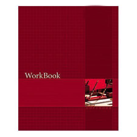 Тетрадь 96л А5ф клетка сшито клеен. тиснение WorkBook Красная96Т5тB1к_01Тетрадь с обложкой из картона, защищающей бумагу от деформации.
