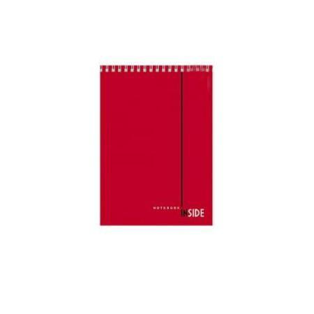 Блокнот 80л А5ф жесткая подложка клетка на гребне серия INSIDE80Б5B1грБлокнот с обложкой из картона, защищающей бумагу от деформации.
