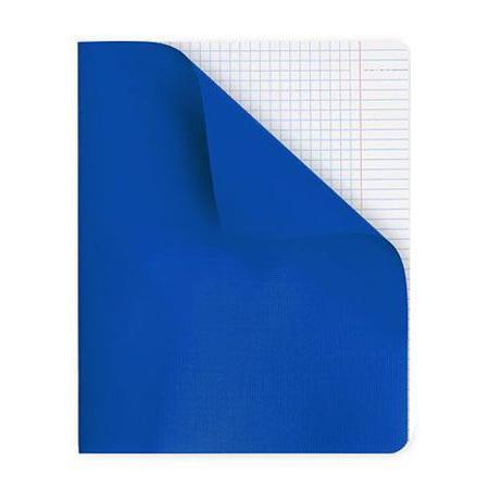 Тетрадь для записи 96л А5ф клетка на скобе в Полимерной обложке Синяя96Т5пмB1