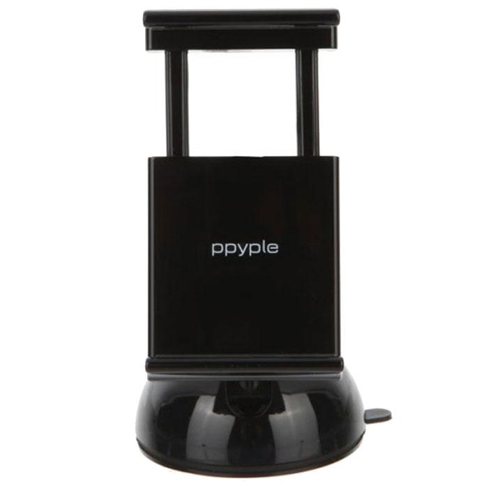 Ppyple Dash-N5 matt black автомобильный держатель936365Автомобильный держатель Ppyple Dash-N5 – лучшее решение для фиксирования в вашем авто любого вида коммуникаторов с диагональю экрана от 3.5 до 5.5 дюймов и толщиной 6-12 мм.Ppyple Dash-N5 можно установить в машине как на лобовом стекле, так и на приборной панели. Фиксация прибора происходит без затрачивания каких-либо усилий с помощью, имеющейся в комплектации присоски и геля. Он держится на месте крепления очень прочно, настолько, что может удерживать фиксируемый в нем коммуникатор во время экстремальной езды по бездорожью. При удалении устройства на крепежной поверхности не остается следов присутствия геля.Фиксируемую часть можно вращать вокруг своей оси на 360°. Это полезное свойство приспособления очень помогает настроить визуализатор под личный угол зрения. Зажим устройства плотно прилегает к поверхности, которую необходимо удерживать и автоматически складывается, если вы убираете коммуникатор из паза. Прибор рассчитан на долговременную работу при температуре от -20 до +70 °С.Держатель произведен в Корее из качественного материала и не имеет никакого отношения к его дешевым заменителям, которые быстро ломаются.