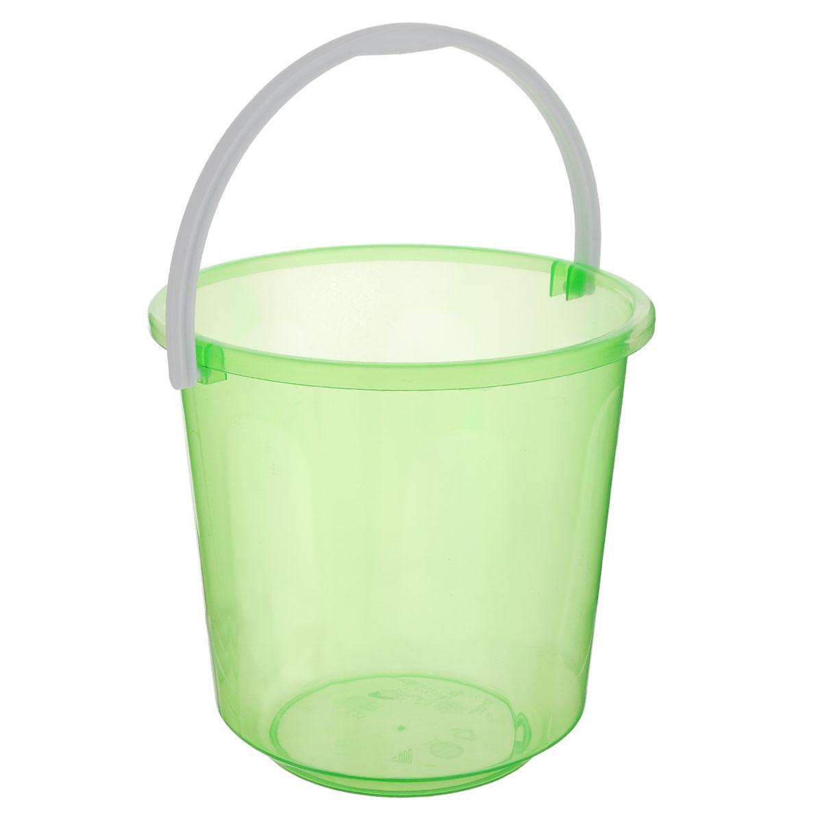 Ведро Альтернатива Хозяюшка, цвет: зеленый, 5 лМ1182_зеленыйВедро Альтернатива Хозяюшка изготовлено из высококачественного цветного пластика. Оно легче железного и не подвержено коррозии. Ведро оснащено удобной пластиковой ручкой.Такое ведро станет незаменимым помощником в хозяйстве.Высота: 21 см.Диаметр: 21 см.