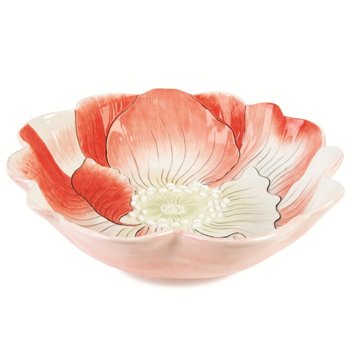 """Блюдо Fitz and Floyd """"Гортензия"""" изготовлено из высококачественной керамики и выполнено в виде цветка.  Такое оригинальное блюдо идеально подойдет для красивой сервировки стола. Рекомендуется мыть вручную с использованием неабразивных моющих средств.   Размер блюда: 39 см х 39 см х 10,5 см."""