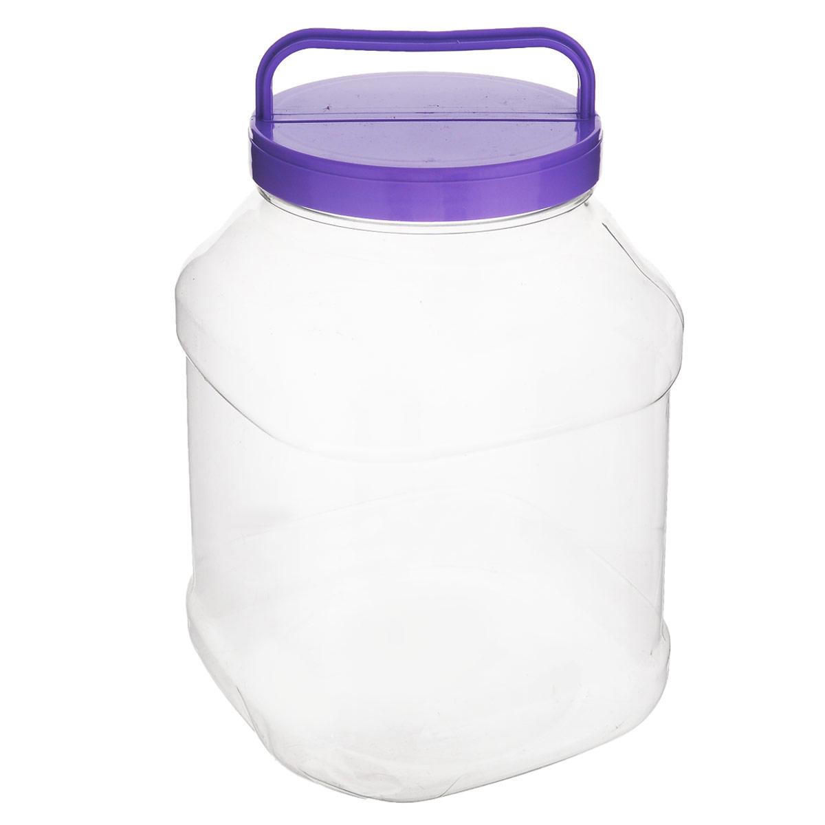 Бидон Альтернатива, прямоугольный, цвет: фиолетовый, 3 лМ463_фиолетовыйБидон Альтернатива предназначен для хранения и переноски пищевыхпродуктов, таких какмолоко, вода и прочее. Изделие выполнено из пищевого высококачественногоПЭТ.Оснащен ручкойдля удобной переноски. Бидон Альтернатива станет незаменимым аксессуаром на вашей кухне.Диаметр крышки: 10,5 см.Высота бидона (без учета крышки): 19 см. Размер дна: 15 см х 15 см.