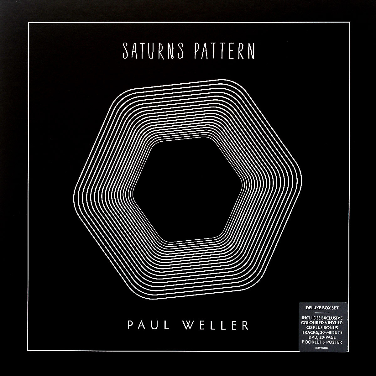 Пол Уэллер Paul Weller. Saturns Pattern. Deluxe Edition (LP + CD + DVD) lettern pattern front round neck long sleeves sweatshirt