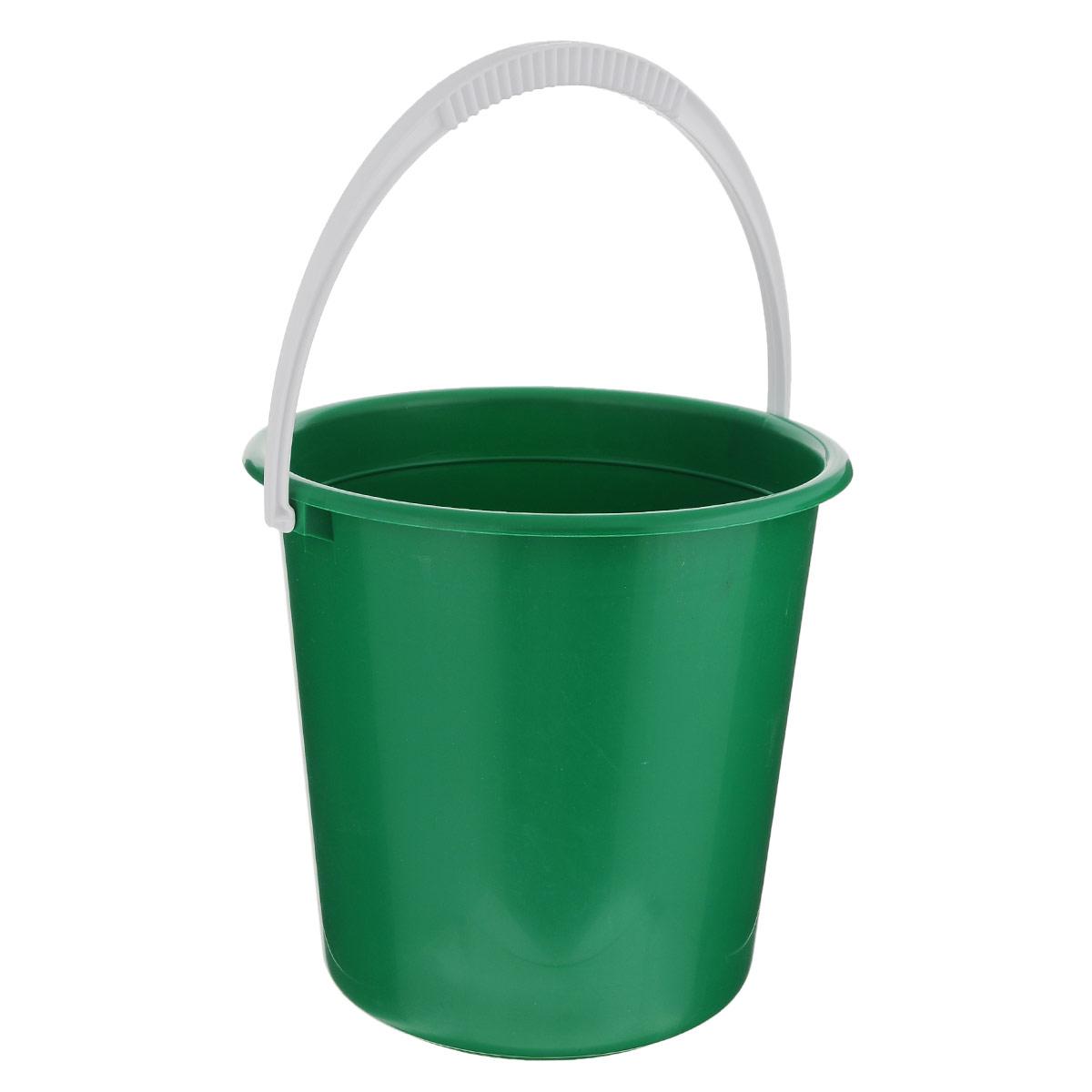 Ведро Альтернатива Крепыш, цвет: зеленый, 10 лК117_зеленыйВедро Альтернатива Крепыш изготовлено из высококачественного одноцветногопластика. Оно легче железного и не подвержено коррозии.Ведро оснащено удобной пластиковой ручкой. Такое ведро станет незаменимымпомощником в хозяйстве.Диаметр: 28 см. Высота: 27 см.