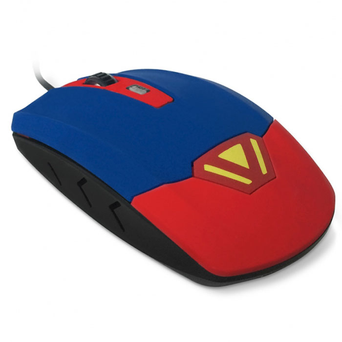 CBR CM 833 Superman, Red Blue мышьCM 833 SupermanCM 833 Superman - новаторский продукт компании CBR. Главная особенность этой модели - вибропривод, который может работать в нескольких режимах. Во-первых, режим постоянной вибрации для массажа кисти. Несколько минут такого массажа- и мышцы расслабятся, восстановится работоспособность. Во-вторых, режим таймера. Короткий вибро-сигнал будет подсказывать, что прошел еще час. Эта функция поможет вовремя отвлекаться от экрана, чтобы размяться, сделать зарядку для глаз. В-третьих, режим вибро-отклика на нажатие клавиш мыши - для левой, правой или двух кнопок сразу. Настроить все эти функции можно при помощи нажатия различных комбинаций клавиш на самой мыши (подробности - в инструкции). Супергеройский дизайн мыши точно отражает ее предназначение - стоять на страже вашего здоровья. Корпус покрыт софт-тач слоем, что делает работу не только полезной, но и приятной.По своим техническим характеристикам СМ 833 - одно из самых мощных устройств ввода в сегменте. Оптический сенсор с разрешением 3200 dpi делает эту мышь всефункциональной. Настроить оптимальную чувствительность сенсора поможет специальная кнопка, расположенная рядом с колесом прокрутки.