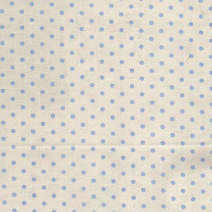 Ткань Dots gris, ширина 110см, в упаковке 1м, 100% хлопок, коллекция Les bleus /Небесно-голубой/. BDOT.YB 3 gris lunatique
