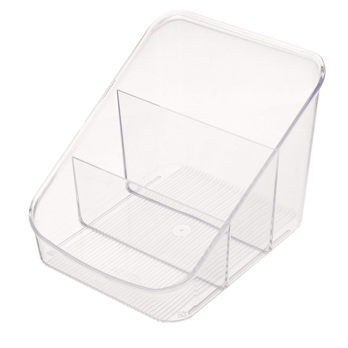 """Органайзер для специй """"Alt"""" выполнен из прочного пластика и разделен на 3 секции. С ним все ваши специи всегда будут на своем месте.Благодаря своим небольшим размерам изделие удобно впишется в стандартный кухонный шкаф, или разместится на столе. В таком органайзере также удобно хранить канцелярские принадлежности. Замечательный органайзер поможет навести на кухне полный порядок и расставить все по местам."""