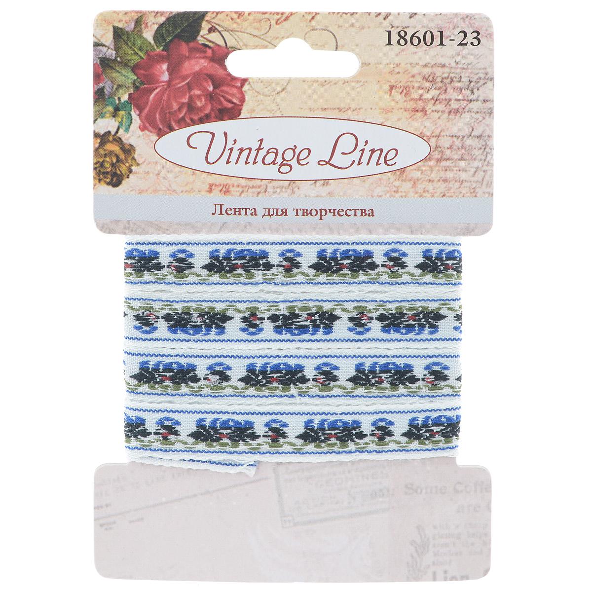 Лента декоративная Vintage Line, 1 х 100 см 77096717709671Декоративная лента Vintage Line выполнена из текстиля и оформлена оригинальным узором. Такая лента идеально подойдет для оформления различных творческих работ таких, как скрапбукинг, аппликация, декор коробок и открыток и многое другое.Лента наивысшего качества практична в использовании. Она станет незаменимым элементом в создании рукотворного шедевра. Ширина: 1 см.Длина: 1 м.