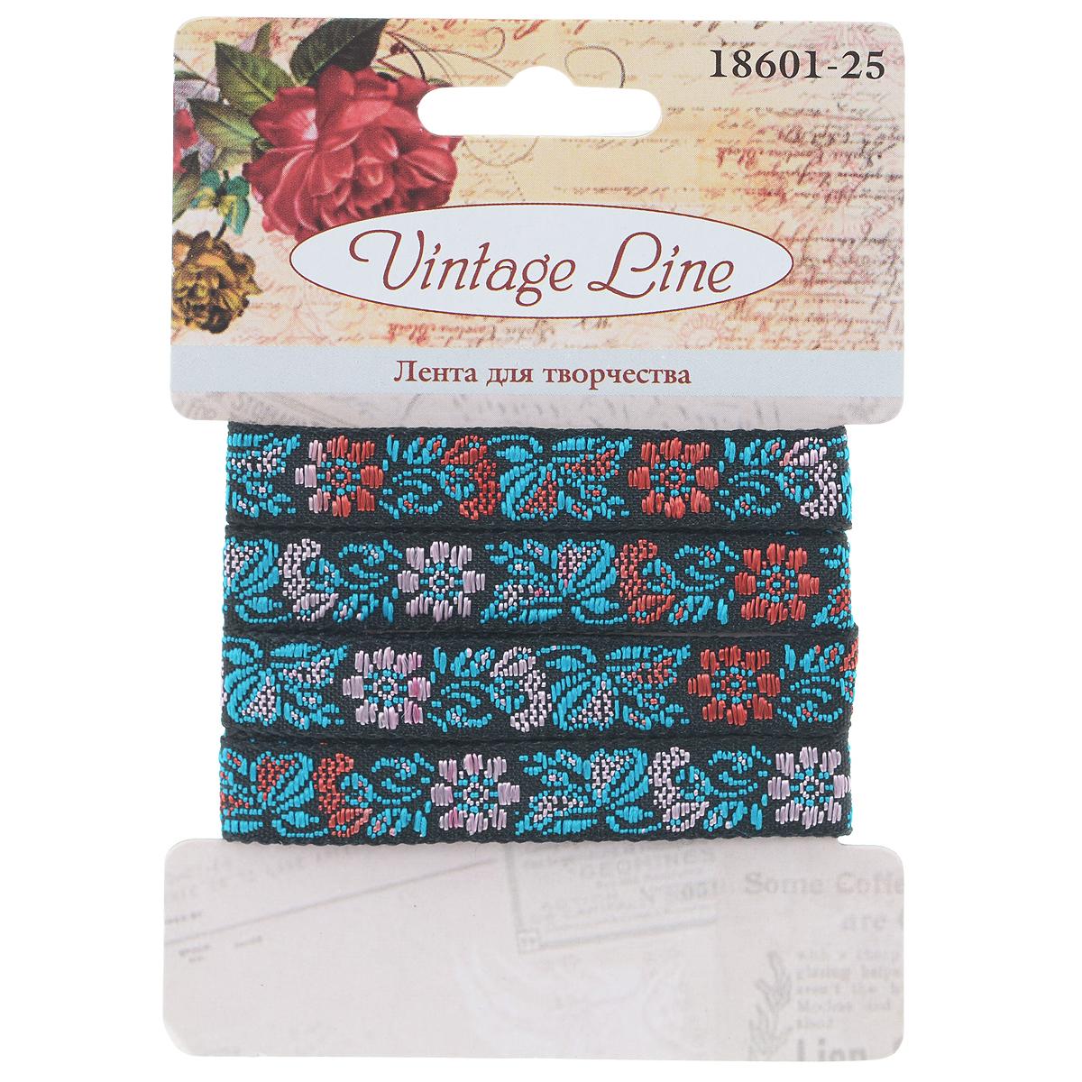 Лента декоративная Vintage Line, 1 х 100 см 7709673 floral halter vintage a line dress