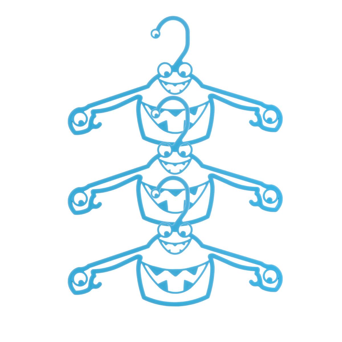 Набор вешалок Пластишка, с крючками, цвет: бирюзовый, 3 штС13024_бирюзаНабор Пластишка, изготовленный из прочного полипропилена, состоит из 3 детских вешалок для одежды с закругленными плечиками. Изделия оснащены крючками. Вешалка - это незаменимая вещь для того, чтобы ваша одежда всегда оставалась в хорошем состоянии.Комплектация: 3 шт.