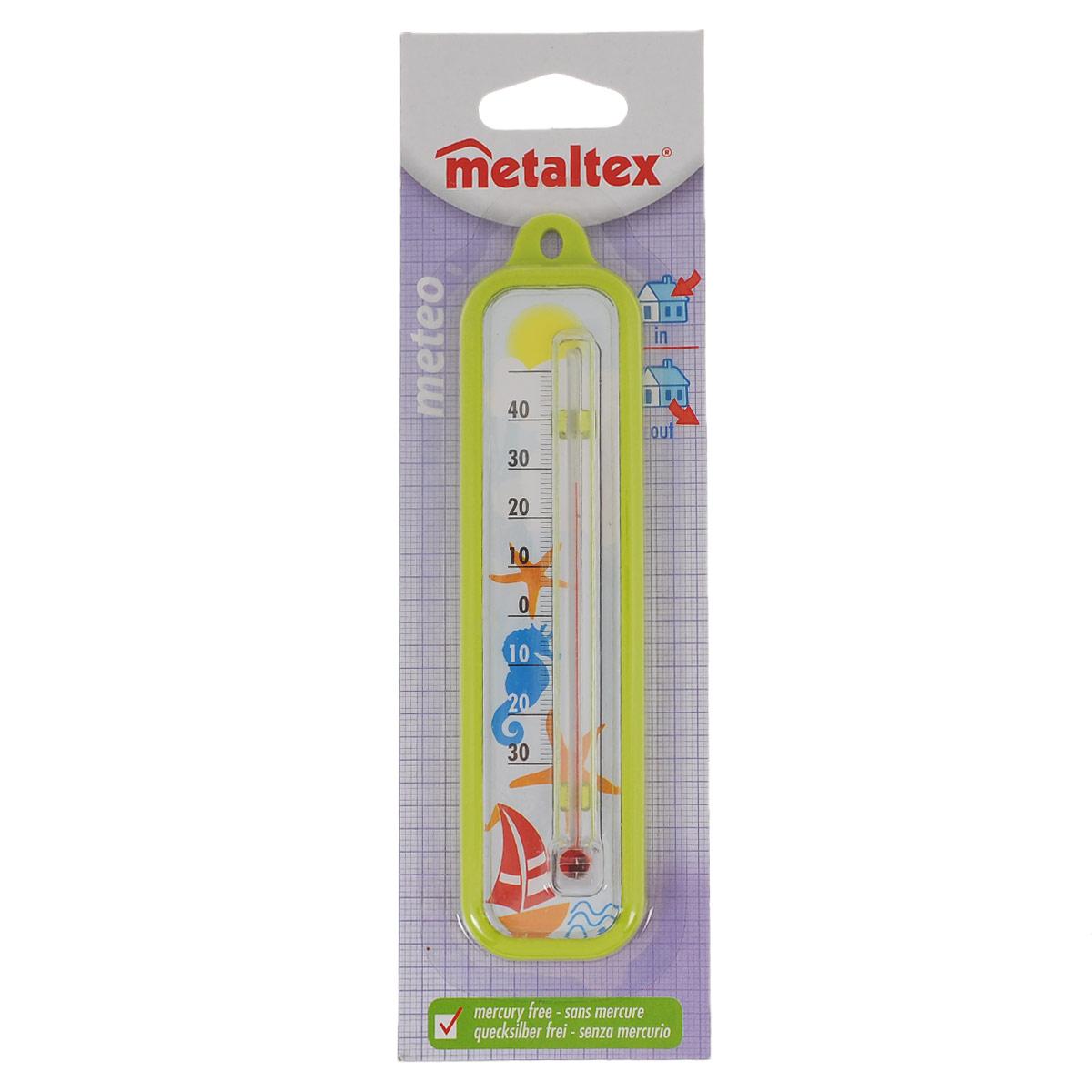 Термометр Metaltex Meteo, цвет: салатовый29.80.03Термометр Metaltex Meteo выполнен из пластика и оснащен шкалой с крупными цифрами. Он предназначен для измерения температуры воздуха в помещении.Экологически безопасный термометр - не содержит ртуть.