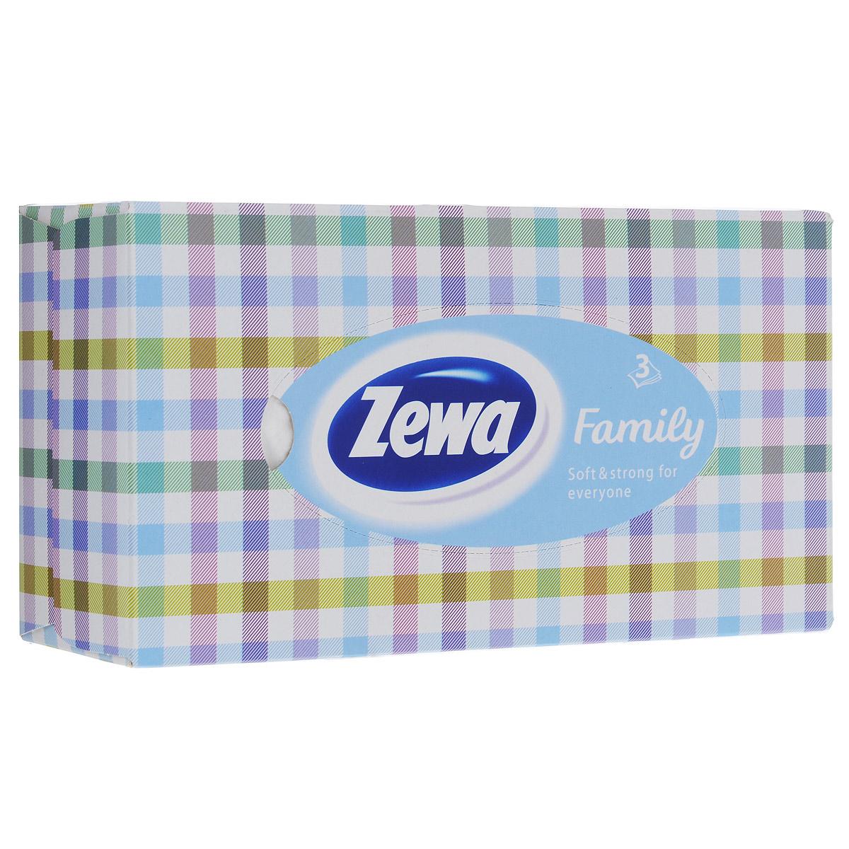 Платки в коробке Zewa Софт и Стронг, цвет: белый, разноцветный, 90 шт носовые платки zewa delux 60 шт