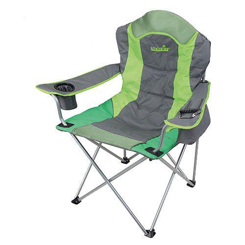 "Кресло складное Norfin ""Rauma NF"", цвет: серый, зеленый, 55 см х 45 см х 96 см"