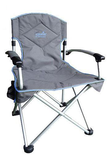Кресло складное Norfin Oriversi NFL Alu, цвет: серый, голубой, 67 см х 61 см х 98 см термосумка norfin luiro m nfl цвет голубой 43 см х 25 см х 27 см