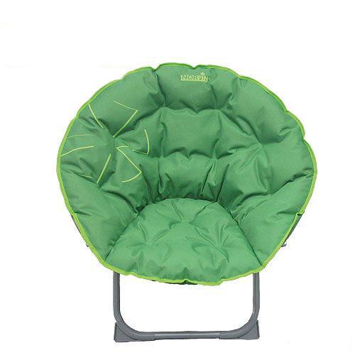 """Кресло круглое складное Norfin """"Svelvik NF"""" - это незаменимый предмет походной мебели, очень удобный в эксплуатации. Оснащено мягким сиденьем и спинкой. Имеет прочную металлическую конструкцию. Пластиковые угловые фиксаторы на ножках делают это кресло максимально устойчивым."""