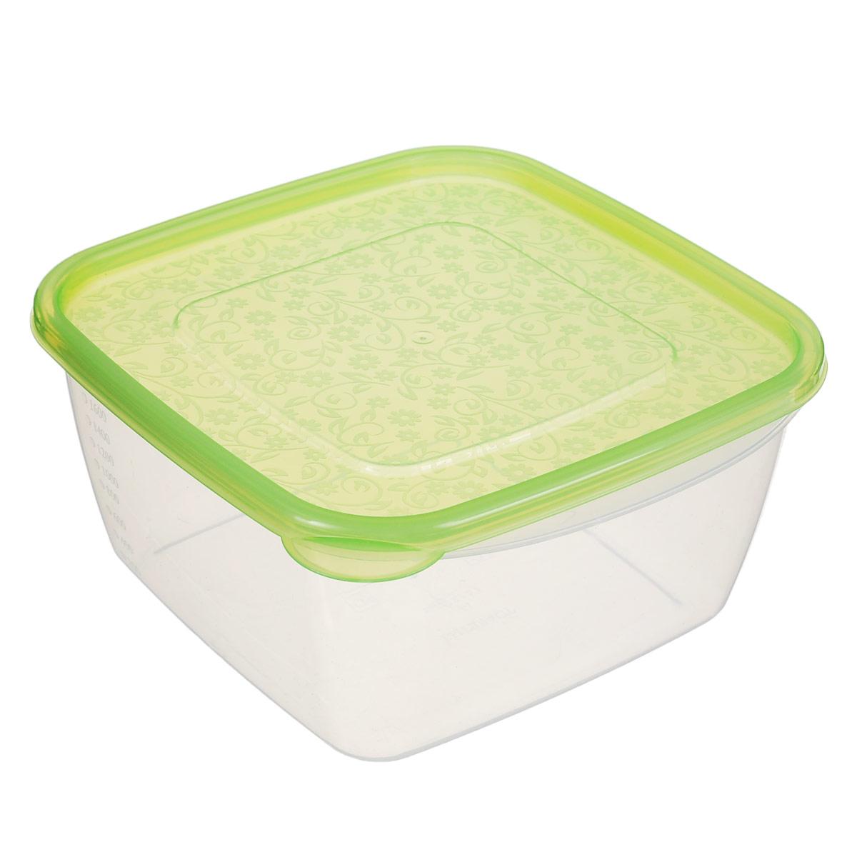 Контейнер Phibo Арт-Декор, цвет: салатовый, 2,1 лС11477Контейнер Phibo Арт-Декор изготовлен из высококачественного полипропилена и не содержит Бисфенол А. Крышка легко и плотно закрывается, украшена узором в виде цветков. Контейнер устойчив к воздействию масел и жиров, легко моется.Подходит для использования в микроволновых печах при температуре до +100°С, выдерживает хранение в морозильной камере при температуре -24°С, его можно мыть в посудомоечной машине при температуре до +95°С.