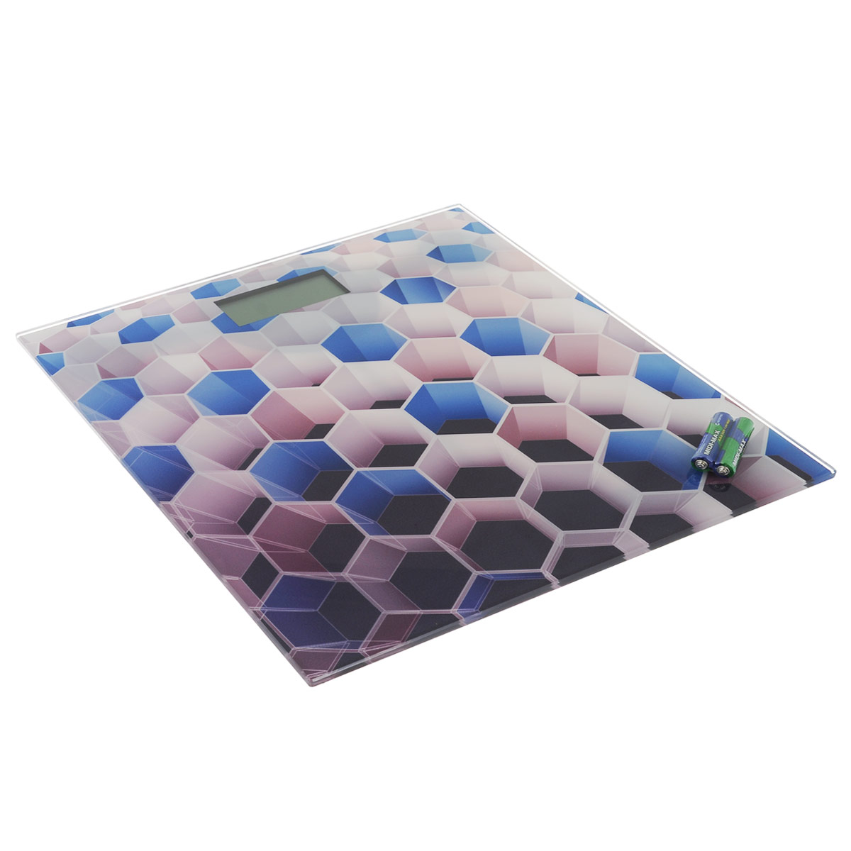 Весы напольные Bradex Соты, до 180 кгTD 0319Весы напольные Bradex Соты просты и удобны в эксплуатации.Горизонтальная платформа изготовлена из качественного высокопрочного стекла, выдерживающего вес до 180 кг. Весы оснащены жидкокристаллическим монитором, на котором хорошо видны цифры. Яркий геометрический рисунок с 3D эффектом приковывает внимание и станет стильным элементом декора.Изделие работает от двух батареек типа ААА, которые входят в комплект. Прилагаетсяинструкция по эксплуатации на русскомязыке. Размер весов: 30 см x 30 см x 2,2 см. Размер дисплея: 7,5 см x 3,1 см.