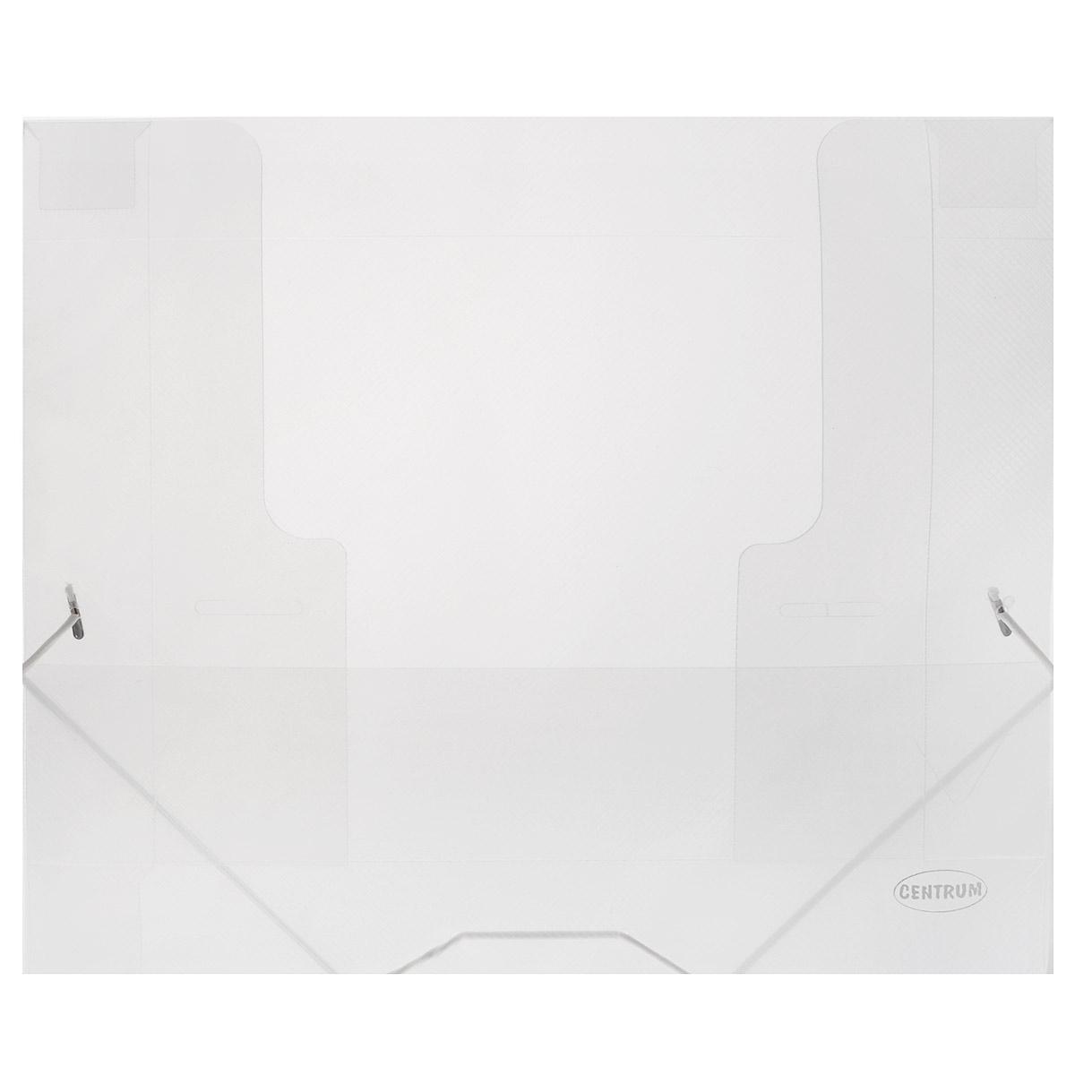 Папка на резинках Centrum пластиковая, формат А4, цвет: прозрачный80020Папка на резинке Centrum станет вашим верным помощником дома и в офисе. Это удобный и функциональный инструмент, предназначенный для хранения и транспортировки больших объемов рабочих бумаг и документов формата А4.Она изготовлена из износостойкого высококачественного пластика. Папка - это незаменимый атрибут для любого студента, школьника или офисного работника. Такая папка надежно сохранит ваши бумаги и сбережет их от повреждений, пыли и влаги.